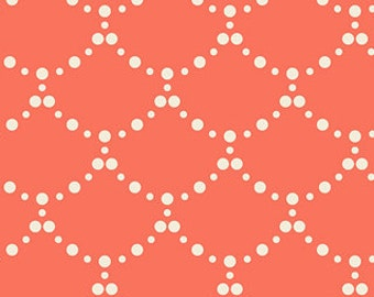 Art Gallery Fabric - Ripples from Millie Fleur by Bari J for Art Gallery MFL 21351 Coral, Priced by the Half Yard