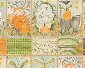 Blend Fabrics - Fall Goodness by Cori Dantini - 112.119.02.1 Fall Bounty Panel Multi- Priced by the 24-Inch Panel