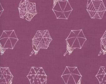 Cotton and Steel - Umbrella fabric - Raindrop by Cotton and Steel - 1942 03 Mauve Blush -Priced by the 1/2 yard