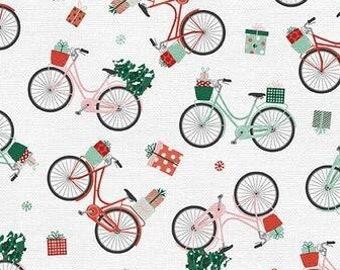 Christmas Bike - Home for Christmas by Angela Nickeas - Paintbrush Studio 120 21841 - Priced by the half yard