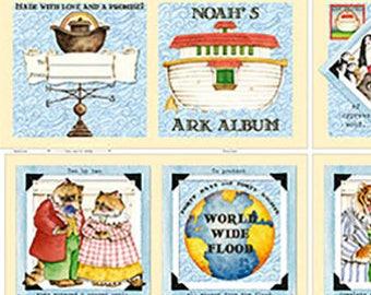 Fabric Book, Storybook -  Noah's Ark by Janet Wecker Frisch - QT Fabric 24782 -  35-Inch Panel - DIY Children's Book