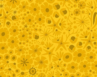 Alison Glass, Diving Board, Reef - for Andover Fabric 8637 Y Yellow (Submarine) - Priced by the Half Yard