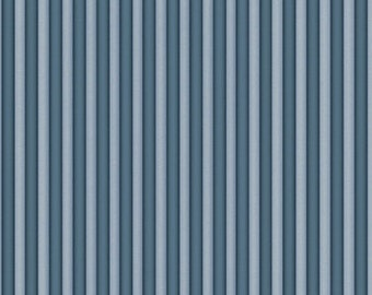 Narrow Stripe Fabric, Rainbow Dreams - Stripe by Santoro for Quilting Treasures 24229 B - Dark Dusty Blue - Priced by the 1/2 yard