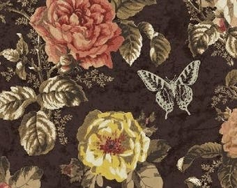 Afternoon Tea Fabric, Floral - Afternoon Tea by Whistler Studio for Windham Fabrics  - 42825- Priced by the Half Yard