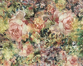 Bouquet Eclectic Elements - Packed Floral Rose Fabric - Tim Holtz Free Spirit Fabrics PWTH014 - Priced by the Half yard