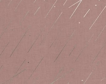 Cotton and Steel - Rain fabric - Raindrop Precipitation by Cotton and Steel - priced by the half yard - 1939 03 M Mauve Blush