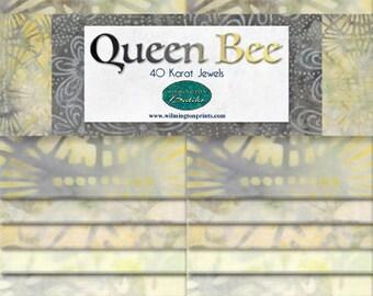 Wilmington Batiks - Queen Bee - 2.5 Inch WOF Strip Pack - 40 piece per pack - 841 78 841 -  40 Karat Jewels