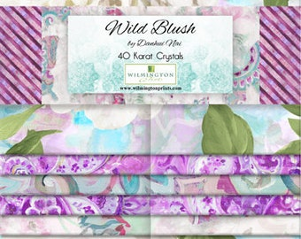 Wild Blush Fabric - 40 Karat Fabric Strips - Danhui Nai - Wilmington Fabrics - 840 604 840 - 40-pieces per 2.5 inch strip set