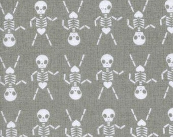 Cotton and Steel - Halloween fabric - Skeleton Dance from Boo! by Cotton and Steel - priced by the half yard - 5086-2