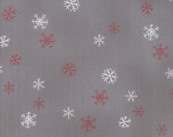 Christmas Fabric - Snowflake - Wenche Wolff Hatling - Nordic Christmas Sno 39725 16 Graphite Gray - Priced by the Half yard