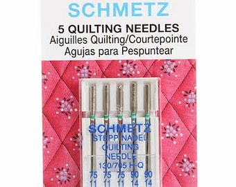 Schmetz Needles 75/11 & 90/14 Quilting Needles - 5 pack Assorted Needles #1739