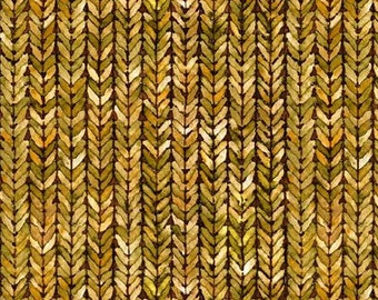 Weave Fabric  - Our Autumn collection - In The Beginning Jason Yenter 6OAF 1 Gold - Priced by the 1/2 yard