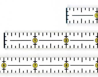 Omnigrid Trio - Marking Ruler Trio - R1264S - Set of (3) half-inch rulers