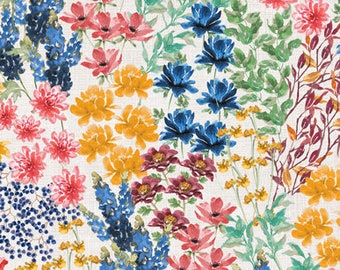 Garden Charm - Floral Spray - Spring Flowers - Beth Grove for Wilmington Prints -83305 143 - white - Priced by the half yard