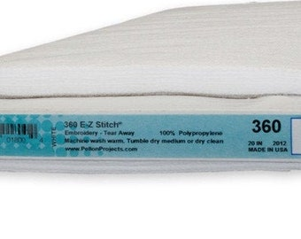Pellon Ez Stitch Perforated Light Weight Tear Away For Embroidery -  20 inch wide - Priced by the Yard