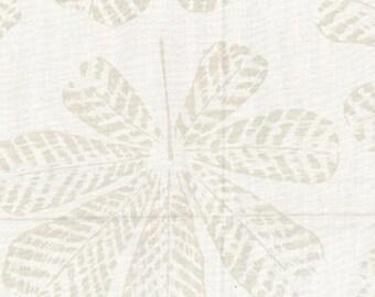 Hoffman Bali Batik - Textured Big Leaf - Feather Leaf - Hoffman Fabrics - 2250 265 Oyster Cream - Priced by the Half Yard