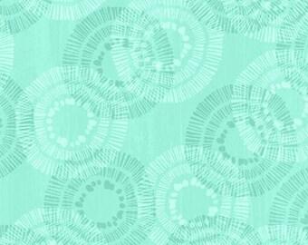 Keep Shining Bright - Circle & Dots Medallion Print - By Anne Rowan for Wilmington Prints - 3007 68514 777 Aqua - Priced by the Half Yard