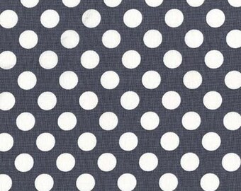 Polka Dot Fabric, Dotted Fabric - Ta Dot, Michael Miller Fabric CX 1492 Graphite - Priced by the  1 /2 yard