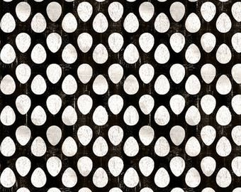 Egg Fabric - Homestead by Jennifer Pugh for Wilmington Prints 82539 911 Black - Priced by the 1/2 yard