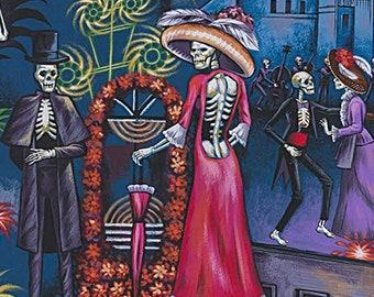 Alexander Henry Fabric - Folklorico - La Parranda (The Party) Christmas Festivity - 8720 Bright - Priced by the Yard