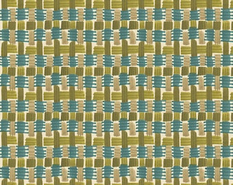 Blend Fabrics - Basket weave Fall Goodness by Cori Dantini - 112.119.04.1 Harvest Green - Priced by the 1/2 yard