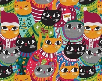 Christmas Sweater Cats by Allison Cole - Paintbrush Studio 120 21794 - Priced by the half yard