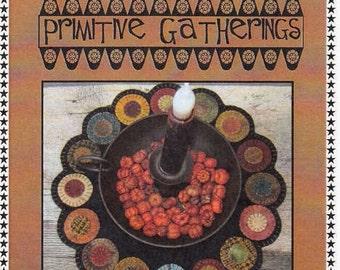 Wool Pattern - Scrappy Penny Candle Mat by Lisa Bonegan for Primitive Gatherings PRI195 - Pattern only
