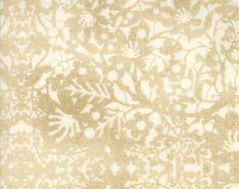 Christmas Fabric - Winter Lace - Tone on Tone Floral  - Nutcracker - Winter Village -  Moda 30556 11 Cream - Priced by the half yard