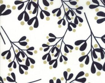 Christmas Fabric - White Christmas Zen Chic Metallic Moda 1656 11M White Gold -  Priced by the half yard