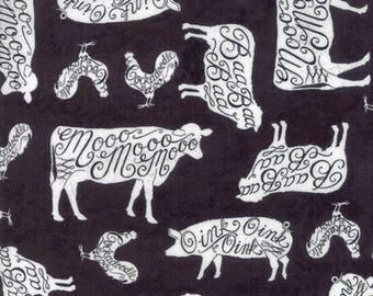 Farmhouse Fabric, Farm Animals, Homegrown by Deb Strain -  Moda  19821 16 - Priced by the half yard