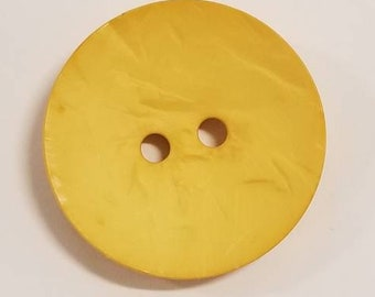 Large Plastic button - 1.7 inches,45 mm - DIll Button yellow 390176