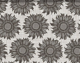 Gray sun burst - Hello Sunshine - Prairie Sisters from Poppie cotton - PS 19017 Dorcus Gray - Priced by the 1/2 yard