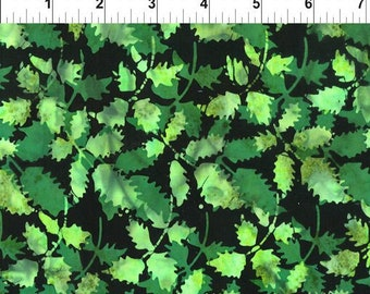 Floragraphix Leaves Fabric - Batik Fabric - In the Beginning Fabric -  2GBD 2 Green - Priced by the 1/2 yard