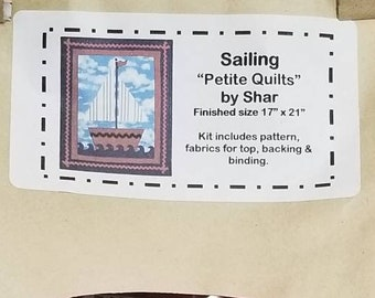 Sailing Block Wall Hanging Kit - Sailing by Shar from Thimbles and Threads - DIY Complete - Fabric & Instructions