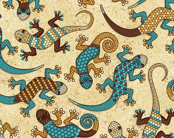 Gecko Fabric - Lizard Fabric - Desert Trip by Timeless Treasures C6806 - Priced by the 1/2 yard