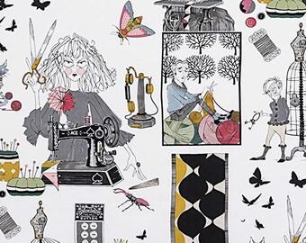 Ghastlie Craft - Ghastlie Notion - Ghastlie Sewing - Alexander Henry Fabric -  Ghastly fabric  - 8714 A Natural - Priced by the YARD
