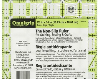 OmniGrip by OmniGrid - Rectangle / Angle Cut / Triangle Marking Ruler  - RN5516 - 5-1/2-Inch x 16 Inch