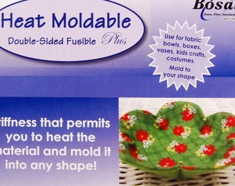 Bosal Heat Moldable Interface, Double Sided Fusible - Bosal 491 White, 20-Inch x 36-Inch, by the Each - Pattern sold separately