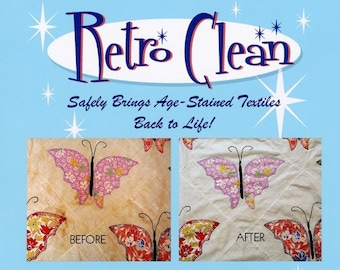 Retro Clean Soaking Agent - Vintage wash - delicate wash - 4.0 ounce (4-6 uses) - Unscented