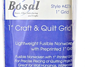 Quilter's Grid 1-inch Fusible Interfacing 48 inch x 1yd - Bosal 427A White