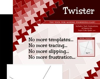 Twister Template by Twisted Sister Designs - Pinwheel template for 10 inch squares