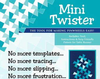 Mini Twister Template by Twister Sisters Designs - Pinwheel template - for 2.5 inch squares (Candy size)