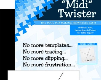 Midi Twister Template by Twisted Sister Designs - Pinwheel template for 6.5 inch fabric squares