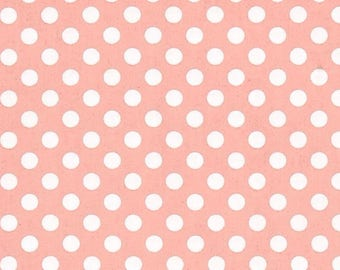 Polka Dot Fabric - Pink Lady by Karen Embry for Blank Quilting - 8496 22 Pink - Priced by the Half yard