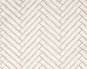 Herringbone Fabric, Nautical fabric - Heritage by Stephanie Marrott for Wilmington Prints - 84408 112 Tan - Priced by the 1/2 yard