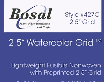 Quilter's Grid 2.5-inch Fusible Interfacing 48 inch x 1yd - Bosal 427C-WHT