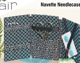 Navette Needle Case Pattern including Mat Board Inserts - Indygo Junction by Amy Barickman - IJ FF106 - DIY Project