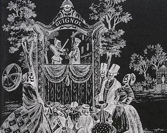 Gothic Fabric - Alexander Henry Fabric, Luxembourg Garden, Black & White Collection - 8559 B Black - Half Yard Price
