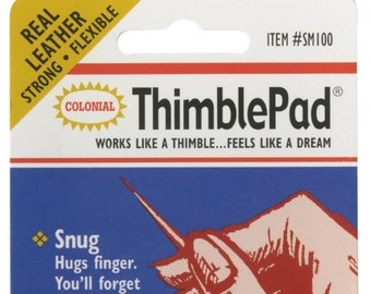 Leather Thimble Pads SM-100 -  Leather Finger Thimble - Finger Pad - Thimble It - Colonial Needle Co - 12 per pack