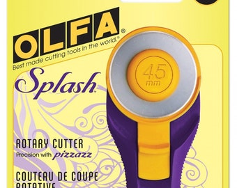 Olfa Splash Rotary Cutter 45mm # RTY2CPR - Emperor Purple